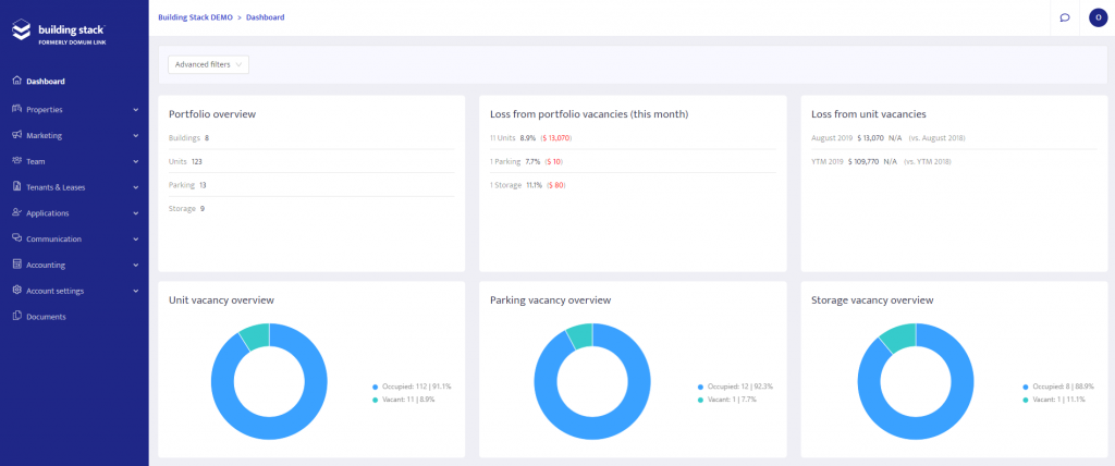 Building Stack Dashboard