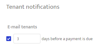 Payment reminder setting