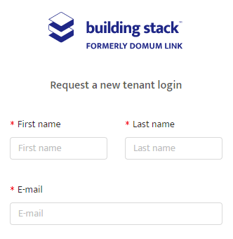 Login request form on Building Stack