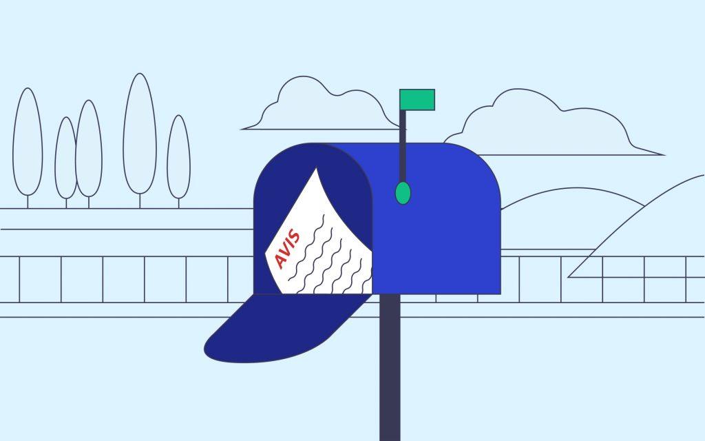 Avis dans une boîte à lettres